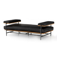 Four Hands Kennon Chaise - Sonoma Black - Toasted Oak - Carbon Black