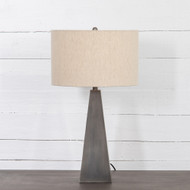 Four Hands Leander Table Lamp - Dark Antique Pewter - Light Antique Pewter - Light Beige