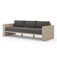 Four Hands Leroy Outdoor Sofa, Washed Brown - Charcoal - Washed Brown
