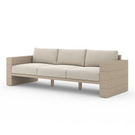 Four Hands Leroy Outdoor Sofa, Washed Brown - Faye Sand - Washed Brown