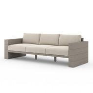 Four Hands Leroy Outdoor Sofa, Weathered Grey - Faye Sand - Weathered Grey