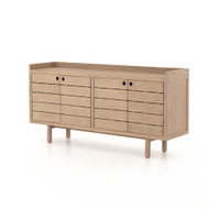 Four Hands Lula Outdoor Sideboard - Washed Brown