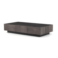 Four Hands Masera Rectangular Coffee Table - Jet Black Oak - Bluestone