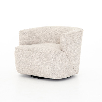 Four Hands Mila Swivel Chair - Brazos Dove