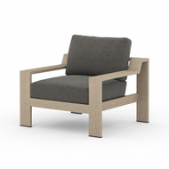 Four Hands Monterey Outdoor Chair - Charcoal - Washed Brown