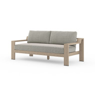 """Four Hands Monterey Outdoor Sofa 74"""", Washed Brown - Faye Ash - Washed Brown"""