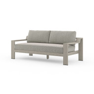 Four Hands Monterey Outdoor Sofa, Weathered Grey - Faye Ash - Weathered Grey