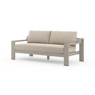 Four Hands Monterey Outdoor Sofa, Weathered Grey - Faye Sand - Weathered Grey