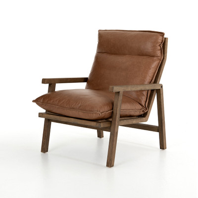 Four Hands Orion Chair - Chaps Saddle - Distressed Natural