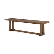 """Four Hands Otto Dining Bench 71"""" - Honey Pine - Waxed Bleached Pine"""