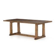 "Four Hands Otto Dining Table 87"" - Honey Pine - Waxed Bleached Pine"