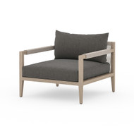 Four Hands Sherwood Outdoor Chair, Washed Brown - Charcoal - Washed Brown