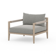 Four Hands Sherwood Outdoor Chair, Washed Brown - Faye Ash - Washed Brown