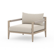 Four Hands Sherwood Outdoor Chair, Washed Brown - Faye Sand - Washed Brown
