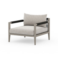 Four Hands Sherwood Outdoor Chair, Weathered Grey - Stone Grey - Weathered Grey - Dark Grey Rope