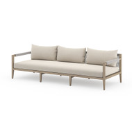 Four Hands Sherwood Outdoor Sofa, Washed Brown - Faye Sand - Washed Brown - Grey Rope