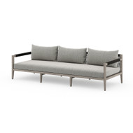 Four Hands Sherwood Outdoor Sofa, Weathered Grey - Faye Ash - Weathered Grey