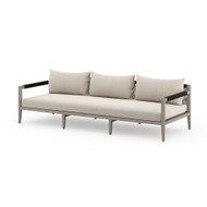 Four Hands Sherwood Outdoor Sofa, Weathered Grey - Faye Sand - Weathered Grey