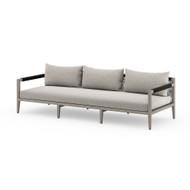 Four Hands Sherwood Outdoor Sofa, Weathered Grey - Stone Grey - Weathered Grey