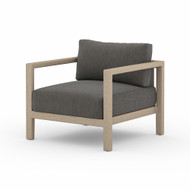 Four Hands Sonoma Outdoor Chair, Washed Brown - Charcoal - Washed Brown - Aged Oak