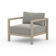 Four Hands Sonoma Outdoor Chair, Washed Brown - Faye Ash - Washed Brown - Aged Oak