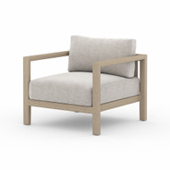 Four Hands Sonoma Outdoor Chair, Washed Brown - Stone Grey - Washed Brown - Aged Oak