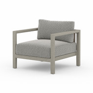 Four Hands Sonoma Outdoor Chair, Weathered Grey - Faye Ash - Weathered Grey - Dark Grey Strap