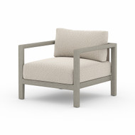 Four Hands Sonoma Outdoor Chair, Weathered Grey - Faye Sand - Weathered Grey - Dark Grey Strap