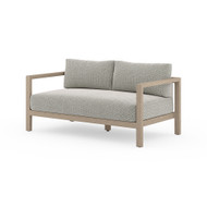Four Hands Sonoma Outdoor Sofa, Washed Brown - Faye Ash - Washed Brown
