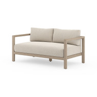 Four Hands Sonoma Outdoor Sofa, Washed Brown - Faye Sand - Washed Brown