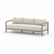Four Hands Sonoma Outdoor Sofa, Weathered Grey - Faye Sand - Weathered Grey