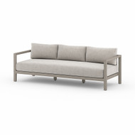 Four Hands Sonoma Outdoor Sofa, Weathered Grey - Stone Grey - Weathered Grey