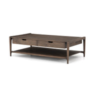 Four Hands Valeria Coffee Table - Aged Brown