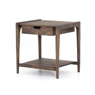 Four Hands Valeria End Table - Aged Brown