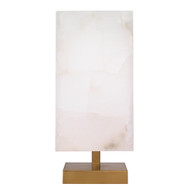 Jamie Young Ghost Axis Table Lamp - White Alabaster & Antique Brass Metal