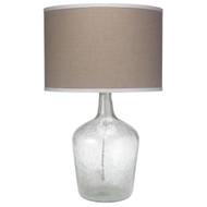 Jamie Young Plum Jar Table Lamp - Medium - Clear Seeded Glass