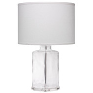 Jamie Young Napa Table Lamp - Clear Hammered Glass