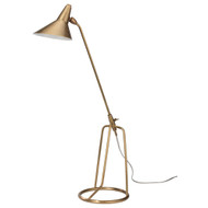 Jamie Young Franco Tri-Pod Table Lamp - Antique Brass Metal