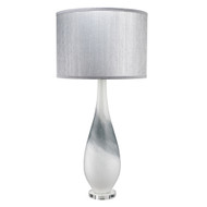 Jamie Young Dewdrop Table Lamp - Grey Swirl Glass w/ Gold Flakes