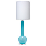 Jamie Young Studio Table Lamp - Pale Blue Blown Glass