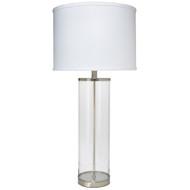 Jamie Young Rockefeller Table Lamp - Clear Glass & Nickel Metal