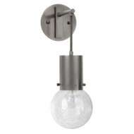 Jamie Young Strada Pendant Wall Sconce - Gun Metal & Clear Seeded Glass