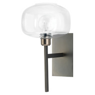 Jamie Young Scando Mod Wall Sconce - Gun Metal & Clear Glass