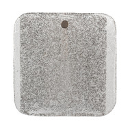 Jamie Young Pérignon Square Wall Sconce - Textured Melted Ice Glass & Antique Silver Metal