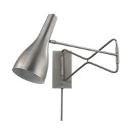 Jamie Young Lenz Swing Arm Wall Sconce - Gun Metal