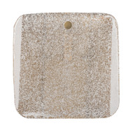 Jamie Young Pérignon Square Wall Sconce - Textured Melted Ice Glass & Antique Brass Metal