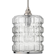 Jamie Young Madison Pendant - Clear Glass w/ Nickel Hardware