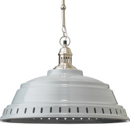 Jamie Young Provisions Pendant - Grey Lacquer & Silver