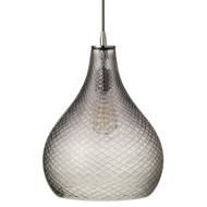 Jamie Young Cut Glass Curved Pendant - Large