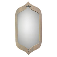 Jamie Young Jasmine Mirror - Grey Washed Wood & Ant. Silver Accents